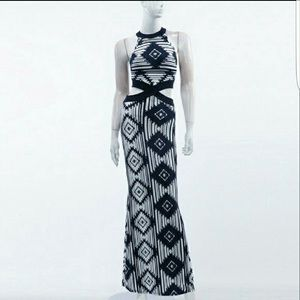 Dresses & Skirts - Aztec Halter Maxi Dress w/ side cut outs.